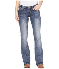 Rock And Roll Cowgirl Rival Bootcut In Dark Vintage W6 1380 Dark Vintage Women's Jeans Navy