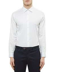 Ted Baker Stretch Regular Fit Button Down Shirt White
