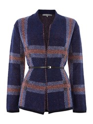 La Fee Maraboutee Long Sleeved Cardigan Belted Blue