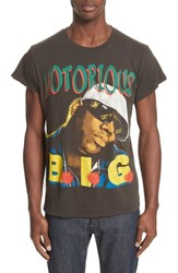 Madeworn 'S Notorious B.I.G. Graphic T Shirt Dirty Black