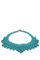 Del Duca Audrey Bib Necklace Blue