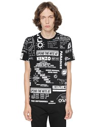 Kenzo Flyer Print Cotton Jersey T Shirt