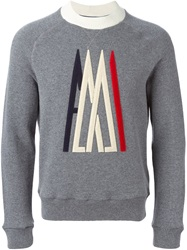 Moncler X Ami Embroidered Logo Sweater Grey