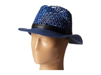 Steve Madden Loose Weave Panama Hat Navy Traditional Hats