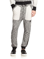 Prps Marled Cotton Sweatpants Grey Multi