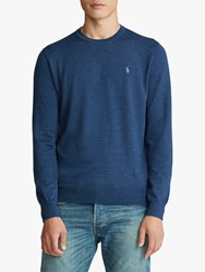 Ralph Lauren Polo Merino Wool Jumper Federal Blue Heather