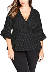 City Chic Plus Size Lovely Spot Top