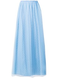 Red Valentino Point D'esprit Tulle Skirt Blue