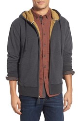 Men's Jeremiah 'Fisk' Zip Front Hoodie With Faux Shearling Lining Phantom Heather
