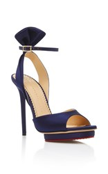 Charlotte Olympia Wallace Sandal Navy