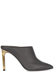 Lanvin Black Pointed Leather Mules