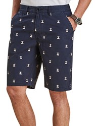 Barbour Beacon Embroidery Shorts Navy