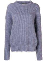 Each X Other Loose Fitted Sweater Pink And Purple