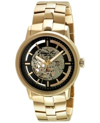 Kenneth Cole New York Men's Automatic Gold Tone Ion Plated Stainless Steel Bracelet Watch 46Mm 10026787