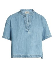 Rachel Comey Gabe Mandarin Collar Denim Top