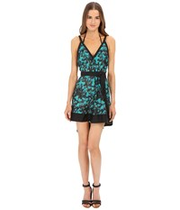 Proenza Schouler Peacock Belted Sundress Cover Up Turquoise Women's Swimwear Blue