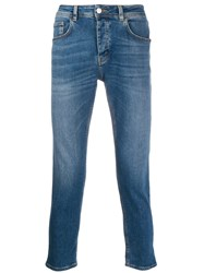 Haikure Cropped Slim Fit Jeans Blue