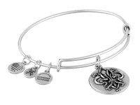 Alex And Ani Fleur De Lis Iii Charm Bangle Silver Bracelet