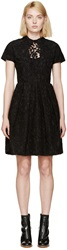 Carven Black Lace Collared Dress