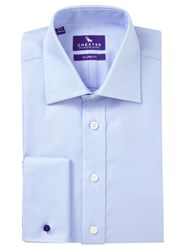 Chester Barrie By Jacquard Tailored Fit Shirt Blue