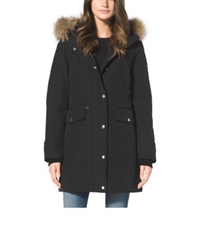 Michael Kors Fur Trimmed Quilted Parka Black