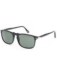 Persol Eyewear Persol 3059S Square Framed Aviator Sunglasses Black