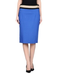 Angelo Marani Knee Length Skirts Blue
