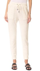 Splendid Patch Pocket Jogging Pants Heather Oatmeal