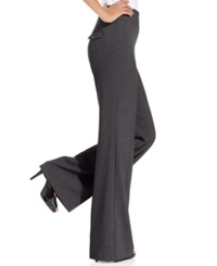 Style And Co. Stretch Wide Leg Pants Heather Gray