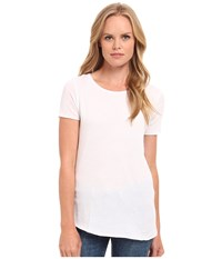 Three Dots Crew Neck Tee White Women's Short Sleeve Pullover