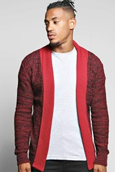 Boohoo To Mixed Yarn Cardigan Wine