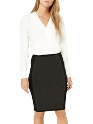 Damsel In A Dress Panelled Knit Skirt Charcoal Black