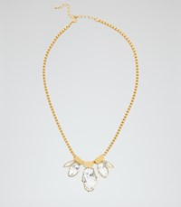 Reiss Anastacia Necklace With Crystals From Swarovski In White Womens