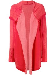 Lost And Found Ria Dunn Open Front Cardigan Red