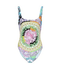 Versace Floral Printed Swimsuit Multicoloured