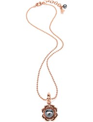 Folli Follie Pearl Muse Rose Gold Plated Necklace