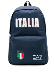 Emporio Armani Ea7 'Italia' Logo Backpack Blue