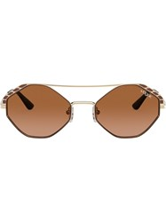Vogue Eyewear Round Frame Sunglasses Brown