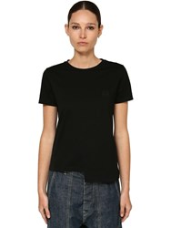 Loewe Asymmetric Cotton Jersey T Shirt Black