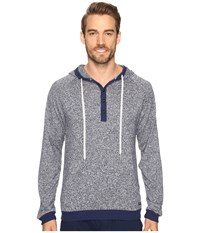 Kenneth Cole Reaction Sleep Hoodie Navy Marled Men's Pajama