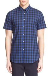 Men's Ps Paul Smith Extra Trim Fit Plaid Short Sleeve Sport Shirt