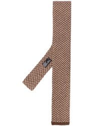Barba Square Tip Herringbone Tie 60