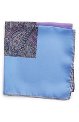 Nordstrom Men's Men's Shop Five Panel Silk Pocket Square Purple