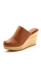 Rachel Comey Warren Wedge Clogs Whiskey