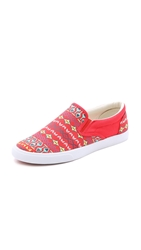 Bucketfeet Vermillion Slip On Sneakers Red