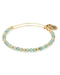 Alex And Ani Color Class Fern Expandable Wire Bangle Green Gold