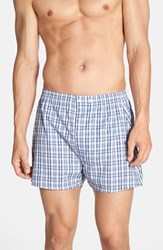 Men's Big And Tall Nordstrom Classic Fit Cotton Boxers Blue Plaid
