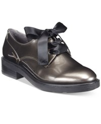 White Mountain Pearson Tailored Lace Up Oxfords Women's Shoes Pewter