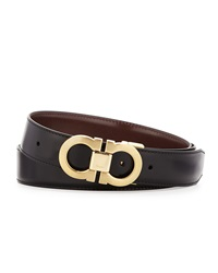 Salvatore Ferragamo Reversible Leather Belt Boxed Gift Set Black Brown