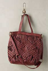 Anthropologie Reed Tote Wine